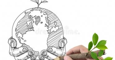 globo-y-planta-masculinos-del-gráfico-de-la-mano-25149774