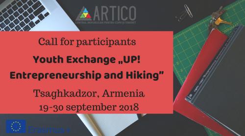 """Ai spirit de antreprenor? Atunci ești invitat să aplici pentru proiectul Erasmus + """"UP! Entrepreneurship and Hiking"""""""