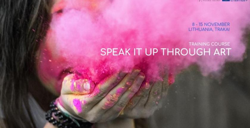 Poster - Speak It up through Art
