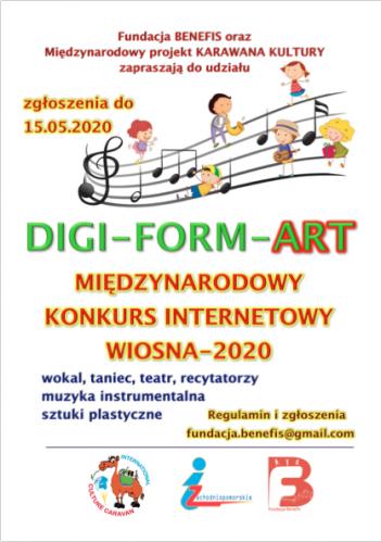 """Concursul on-line Caravana Culturii """"DIGI-FORM-ART SPRING"""""""