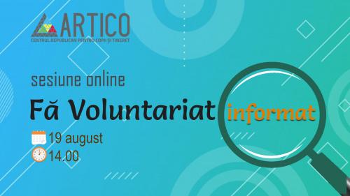 O nouă sesiune de informare pentru tinerii doritori de a practica voluntariatul