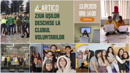 Ziua Ușilor Deschise la Clubul Voluntarilor ARTICO – o zi în care oricine are ocazia de a vedea în timp și spațiu real, munca și activitatea voluntarilor la Centrul Republican pentru Copii și Tineret ARTICO. 🙌🏻