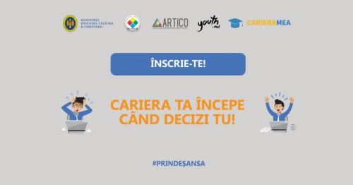 TRAINING PENTRU TINERI: CARIERA ÎNCEPE CÂND DECIZI TU!